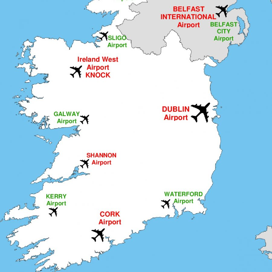 Map Of Ireland With Airports.Map Of Ireland Shannon Airport Unsecureflight Nl