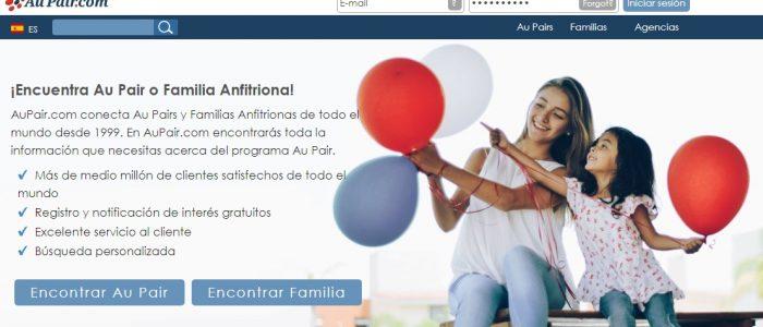 Página gratuita Aupair.com para encontrar familia Au Pair