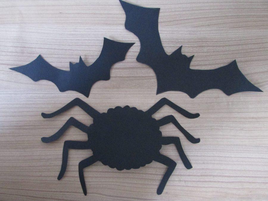 Murciélagos y arañas peludas de Halloween