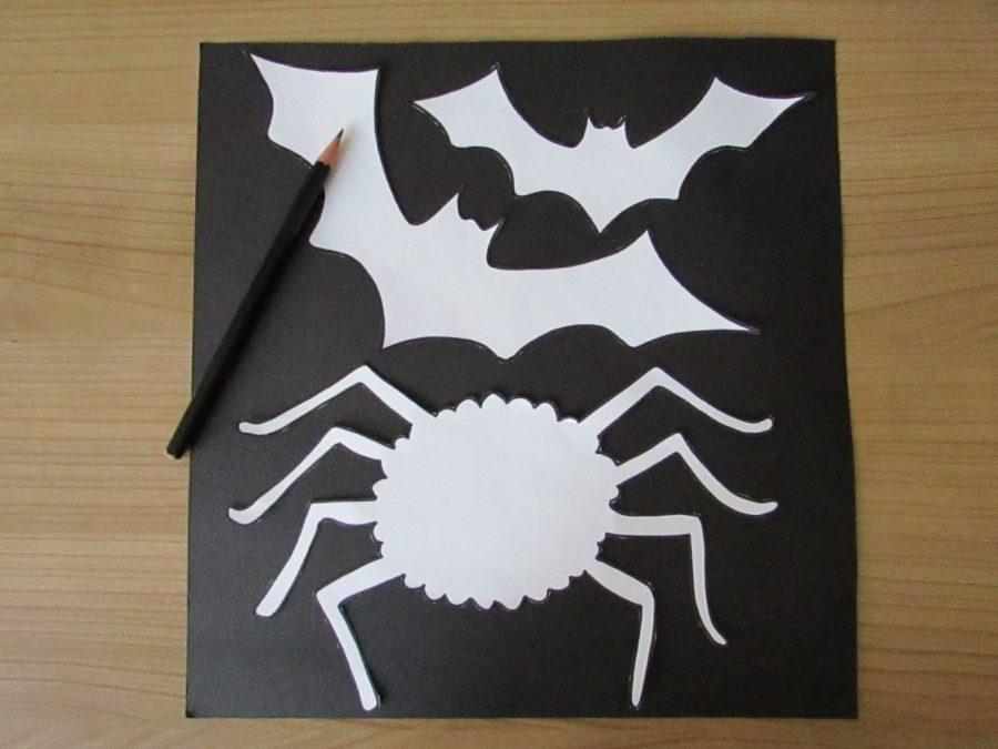 Murciélagos y arañas de Halloween
