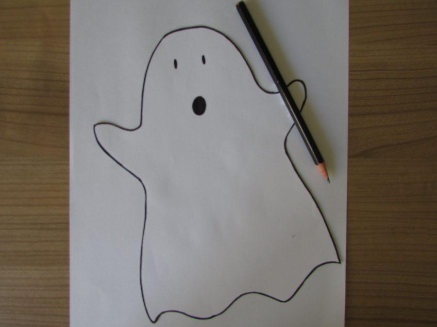 Fantasma esponjoso de Halloween