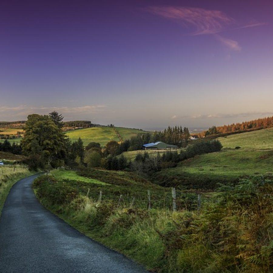 Vivir en el campo en Irlanda.