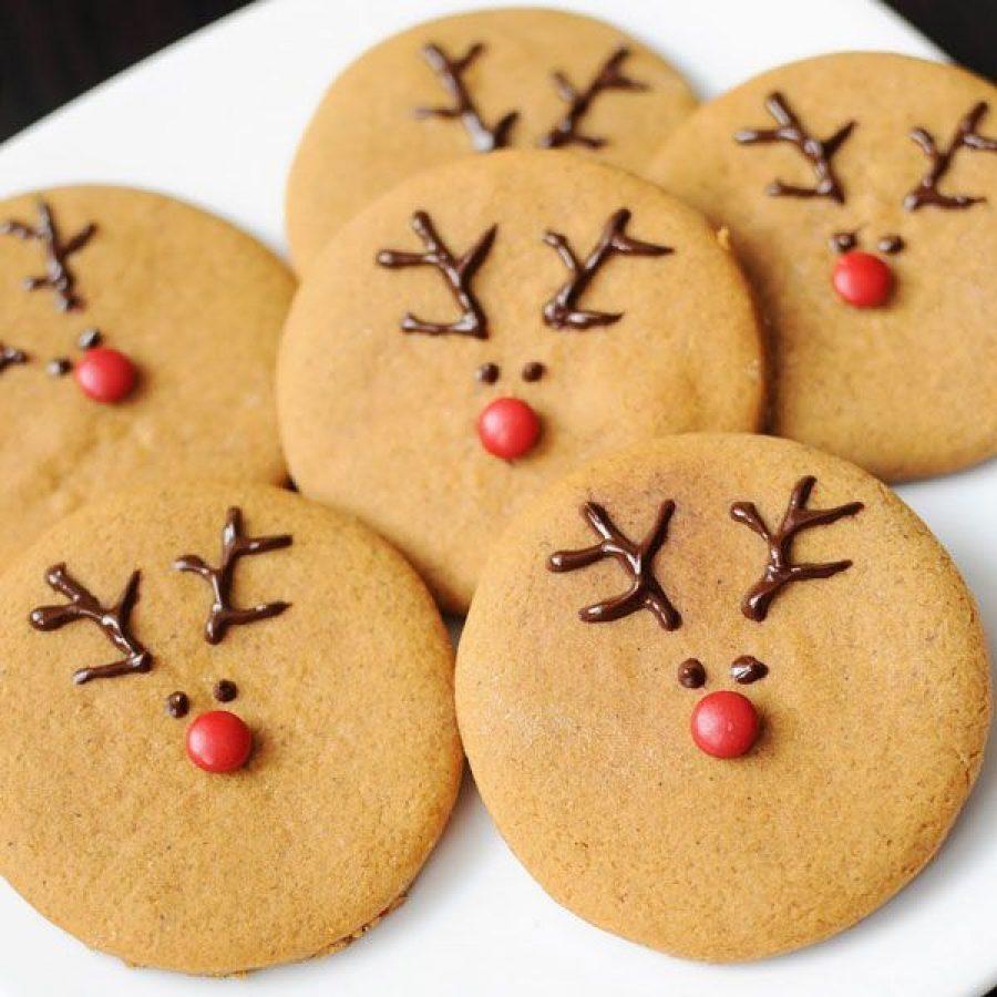 Galletas de jengibre de renos para Navidad