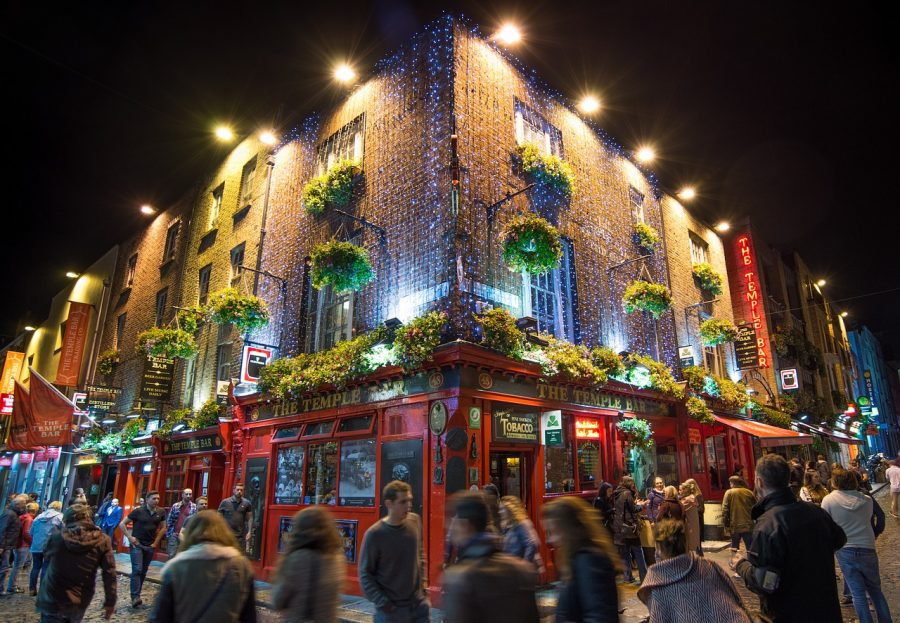 Temple Bar en Dublín, Irlanda