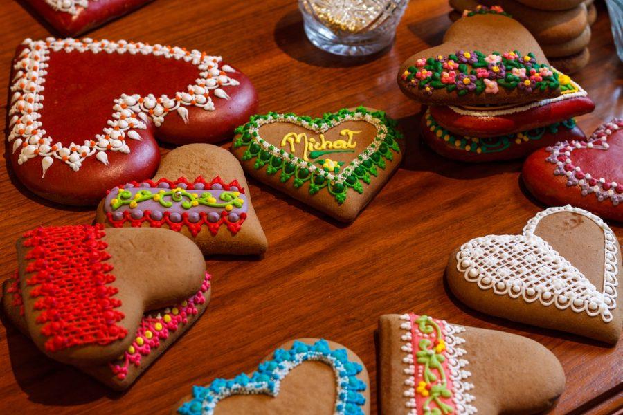 Galletas de mantequilla decoradas para San Valentín