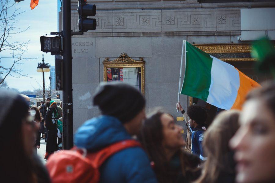 Bandera de Irlanda en St Patrick's Day