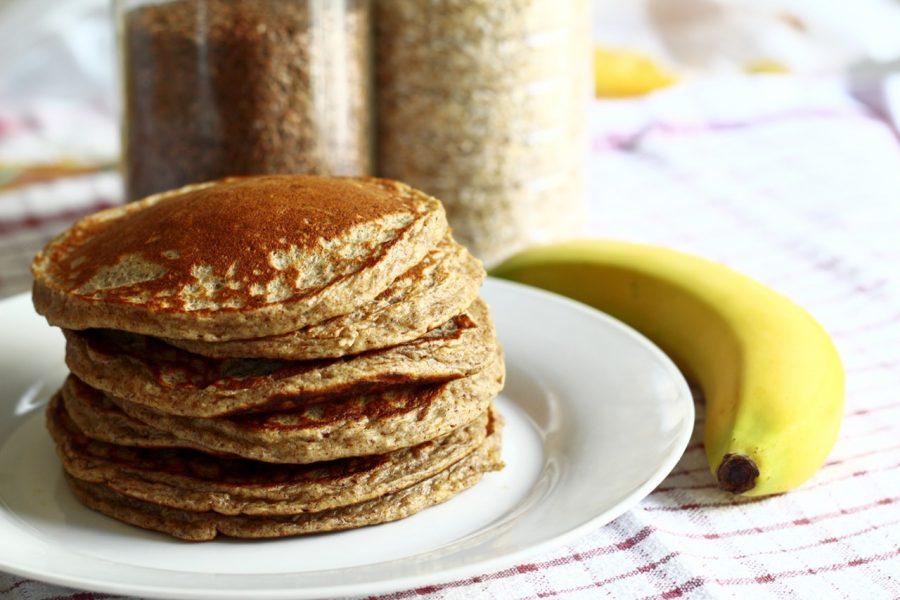 Pancakes de avena y plátano