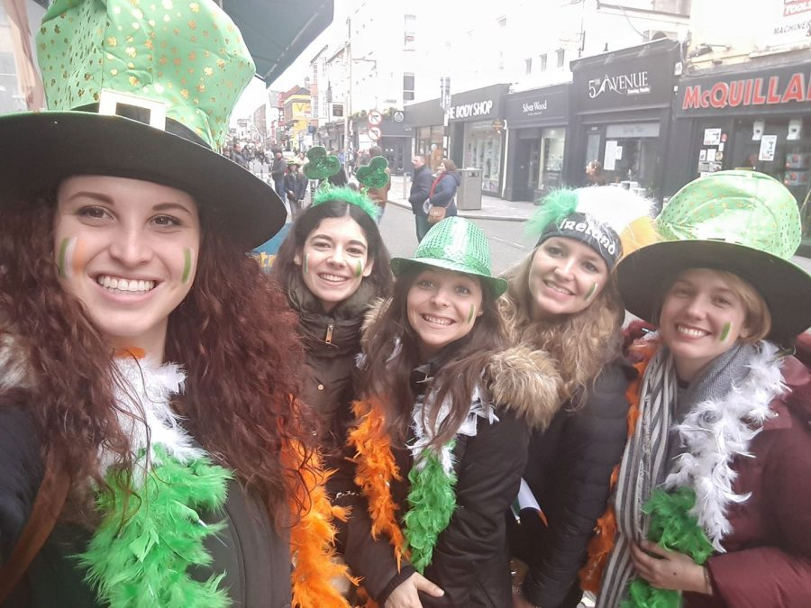 St Patrick's Day in Cork Parade, Ireland