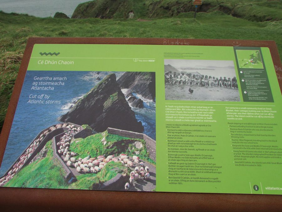 Mapa explicativo de Dún Chaoin, Dingle